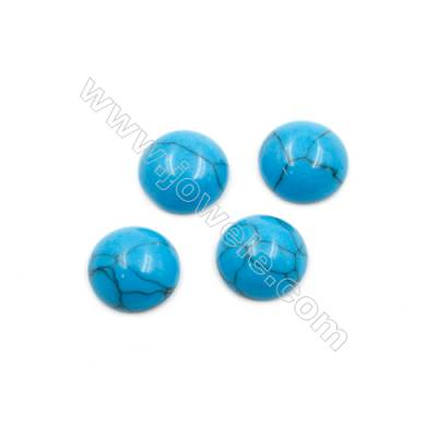 Turquoise Gemstone Cabochon  Round  Synthesis  Size 12mm Thick 5mm  100pcs/pack