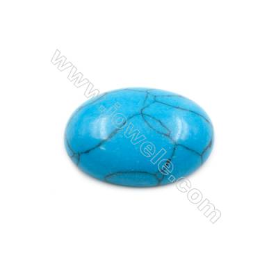 Turquoise Gemstone Cabochon  Oval  Synthesis  Size 18x25mm Thick 8mm  40pcs/pack