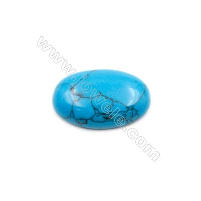 Turquoise Gemstone Cabochon  Round  Synthesis  Size 20x30mm Thick 7mm  20pcs/pack