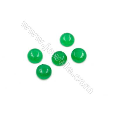 Malaysian Jade Gemstone Cabochon  Round  Size 7mm Thick 3.5mm  150pcs/pack