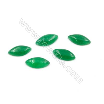 Malaysian Jade Gemstone Cabochon Horse's Eye Shape  Size 8x16mm Thick 3.5mm  80pcs/pack
