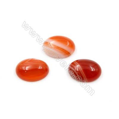 Red Agate Cabochon  Oval  Size 13x18mm Thick 5mm  50pcs/pack