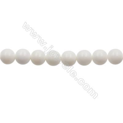 """AA Grade Tridacnidae Round Beads Strand  Diameter 10mm  Hole 1mm  40beads/strand  15~16"""""""