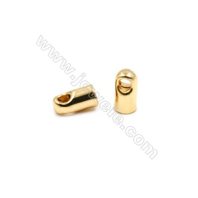 Brass Plated Gold Cord Ends  Size 3x5mm  Inside Diameter 2mm  Hole 1mm  250pcs/pack