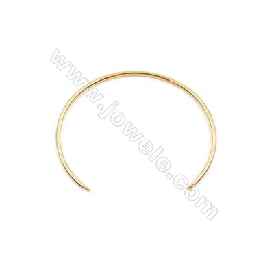 Brass Plated Gold Bracelet Findings, Diameter 63mm, Pin 2mm, 25pcs/pack