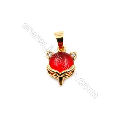 Brass Plated Gold Pendants  Cat  CZ Micropave  Size 10x14mm  15pcs/pack