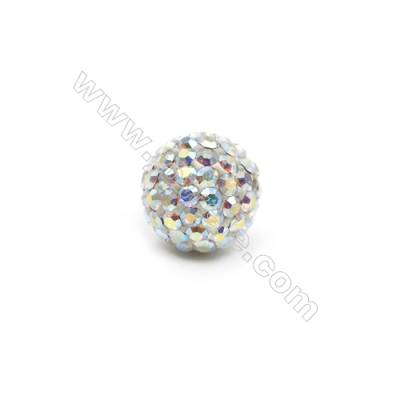 AB Rhinestone Beads Set the Czech drill 95, Round, Size 10mm, Hole 1.5mm, 10beads/pack