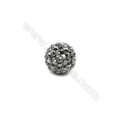 Black Rhinestone Beads Set the Czech drill 95, Round, Size 10mm, Hole  1.5mm, 10beads/pack