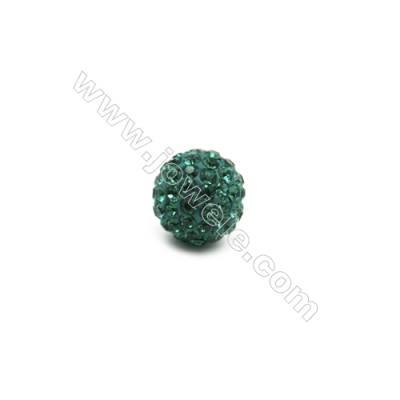 Blue series Rhinestone Beads Set the Czech drill 95, Round, Size 10mm, Hole  1.5mm, 10beads/pack