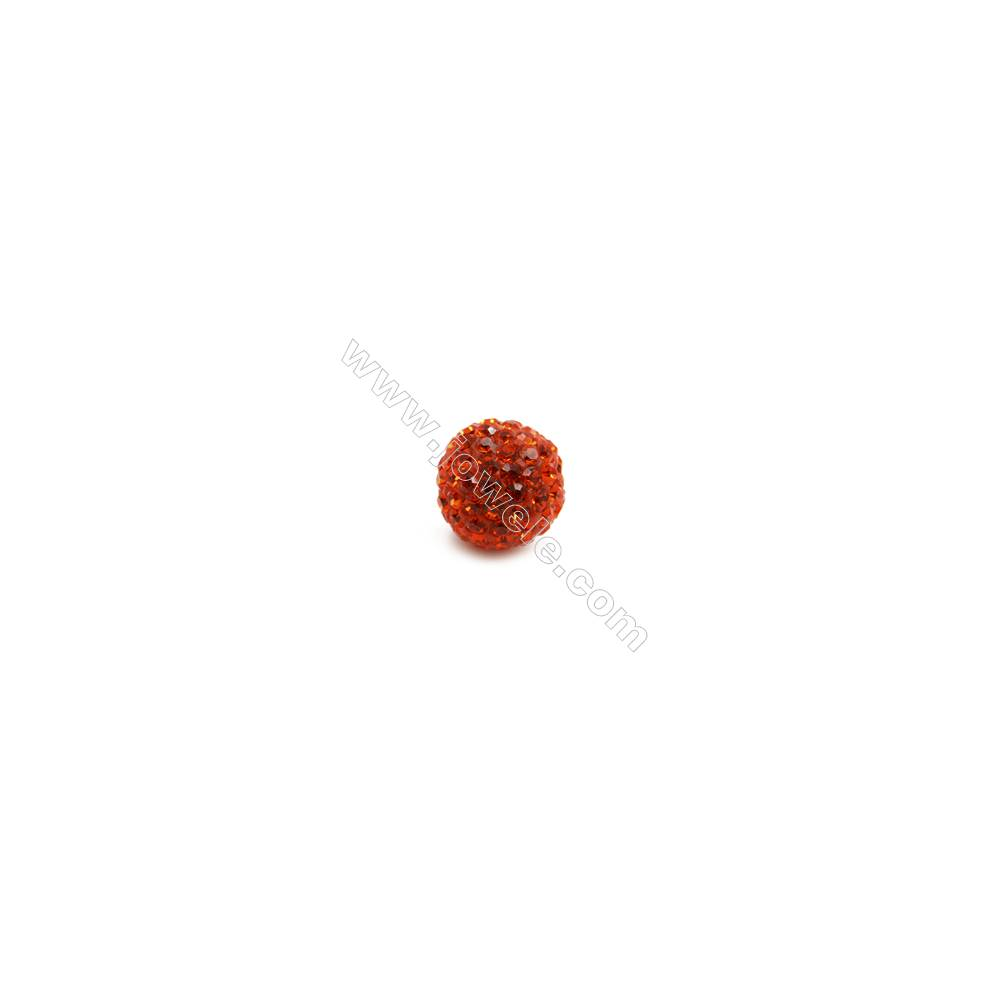 Red series Rhinestone Beads Set the Czech drill 95, Round, Size 10mm, Hole  1.5mm, 10beads/pack