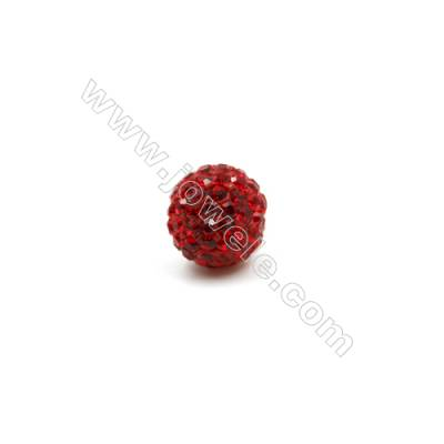 Red series Rhinestone Beads Set the Czech drill 95   Round  Size 10mm  Hole  1.5mm  10beads/pack