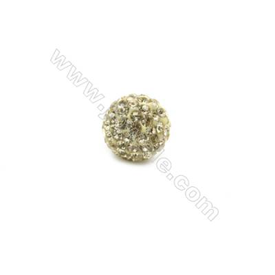 Yellow series Rhinestone Beads Set the Czech drill 95, Round, Size 10mm, Hole 1.5mm, 10beads/pack