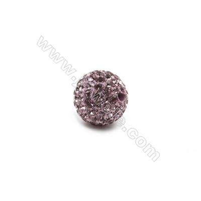 Purple series Rhinestone Beads Set the Czech drill 95, Round, Size 10mm, Hole  1.5mm, 10beads/pack