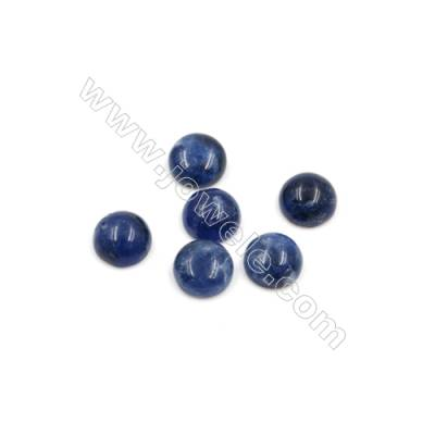 Natural Sodalite Cabochon  Round  Size 6mm  Thick 2mm  60pcs/pack