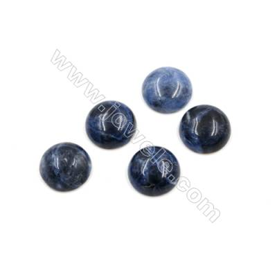 Natural Sodalite Cabochon  Round  Diameter 12mm  Thick 5mm  30pcs/pack