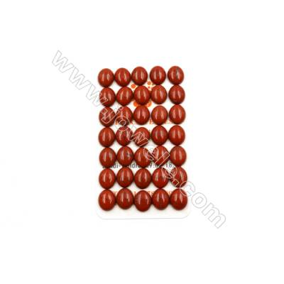 Natural Red Jasper Cabochon  Oval  Size 10x12mm  Thick 4mm  40pcs/pack
