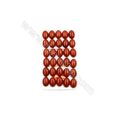 Natural Red Jasper Cabochon  Oval  Size 10x14mm  Thick 5mm  30pcs/pack
