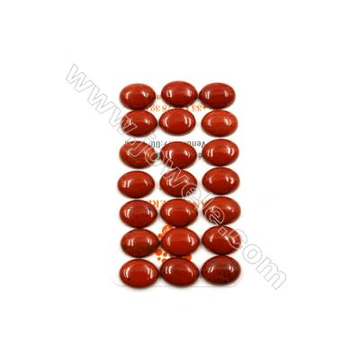 Natural Red Jasper Cabochon  Oval  Size 12x16mm  Thick 5.5mm  30pcs/pack