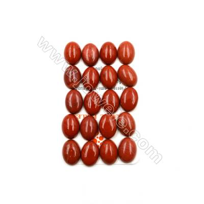 Natural Red Jasper Cabochon  Oval  Size 13x18mm  Thick 7mm  30pcs/pack