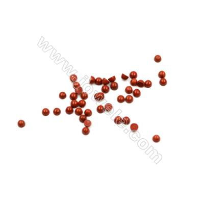 Natural Red Jasper Cabochon  Round  Size 2mm  Thick 1.3mm  100pcs/pack
