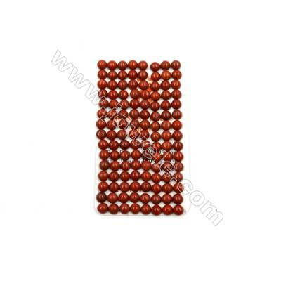 Natural Red Jasper Cabochon  Round  Size 6mm  Thick 3.5mm  60pcs/pack