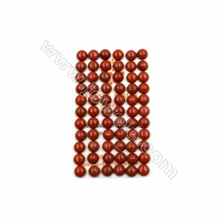 Natural Red Jasper Cabochon  Round  Size 8mm  Thick 3.5mm  60pcs/pack