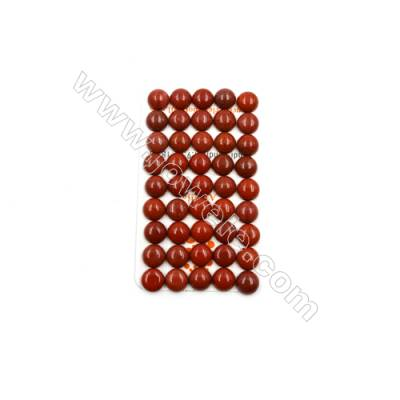 Natural Red Jasper Cabochon  Round  Size 10mm  Thick 4.5mm  40pcs/pack