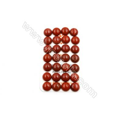 Natural Red Jasper Cabochon  Round  Size 12mm  Thick 5mm  40pcs/pack