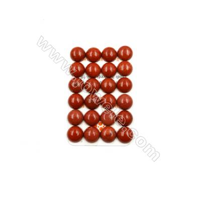 Natural Red Jasper Cabochon  Round  Size 14mm  Thick 6mm  30pcs/pack