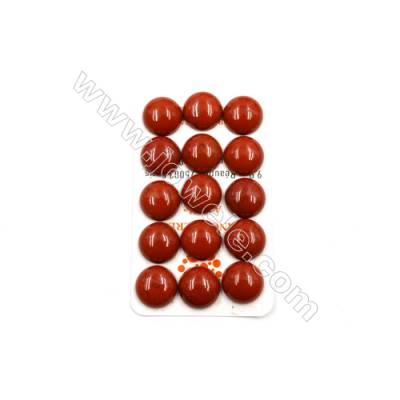 Natural Red Jasper Cabochon  Round  Size 16mm  Thick 6mm  30pcs/pack