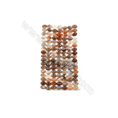 Botswana Agate Cabochon  Oval  Size 5x7mm  Thick 2.5mm  60pcs/pack