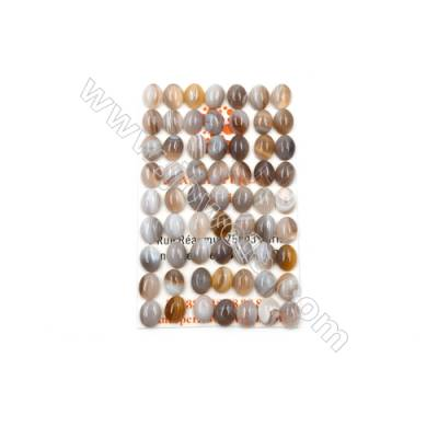 Botswana Agate Cabochon  Oval  Size 9x7mm  Thick 3.5mm  60pcs/pack