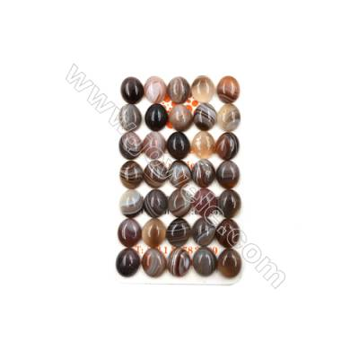 Botswana Agate Cabochon  Oval  Size 10x12mm  Thick 5mm  30pcs/pack