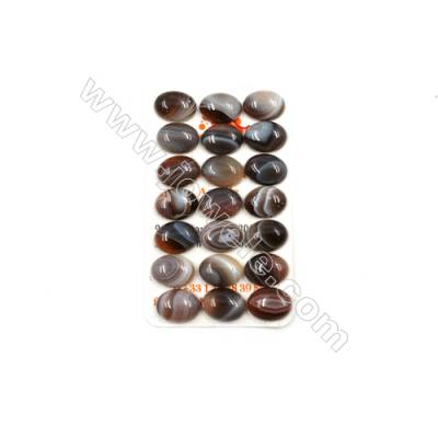 Botswana Agate Cabochon  Oval  Size 12x16mm  Thick 5.5mm  20pcs/pack