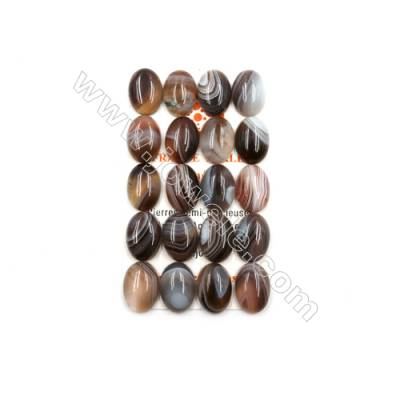 Botswana Agate Cabochon  Oval  Size 13x18mm  Thick 5.5mm  20pcs/pack