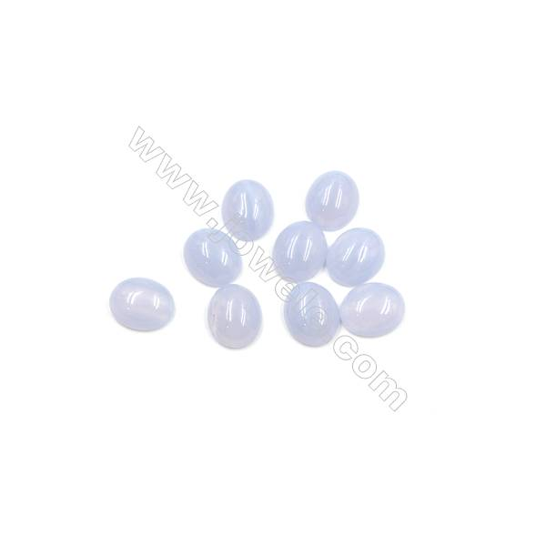 Blue Chalcedony Cabochon  Oval  Size 10x12mm  Thick 5mm  25pcs/pack