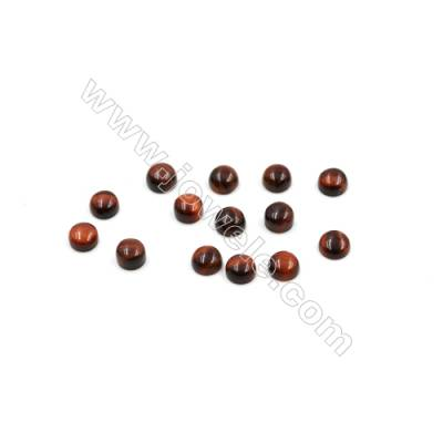 Red Tiger's eye Cabochon  Round  Diameter 4mm  Thick 2mm  60pcs/pack