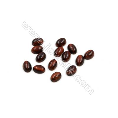 Red Tiger's eye Cabochon  Oval  Size 5x7mm  Thick 3mm  60pcs/pack