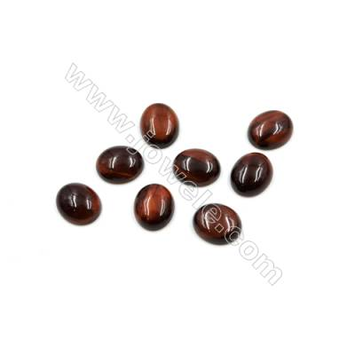 Red Tiger's eye Cabochon  Oval  Size 10x12mm  Thick 4mm  40pcs/pack
