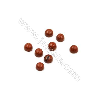 Natural Red Jasper Cabochon  Round  Diameter 3mm  Thick 2mm  60pcs/pack