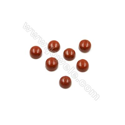 Natural Red Jasper Cabochon  Round  Diameter 4mm  Thick 2mm  60pcs/pack