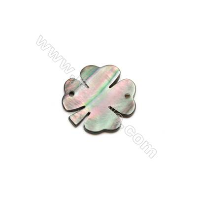 Gray Clover mother-of-pearl shell, 13mm, x 30pcs, hole 0.8 mm
