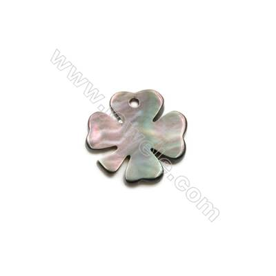 Gray clover shell mother-of-pearl, 11mm, hole 0.8mm, 30pcs/pack