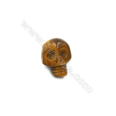 Tiger's Eye Single Beads  Skull  Size 9x12mm  Hole 1.5mm  10pcs/pack