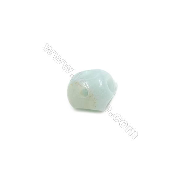 Amazonite Single Beads  Skull  Size 9x12mm  Hole 1.5mm  10pcs/pack