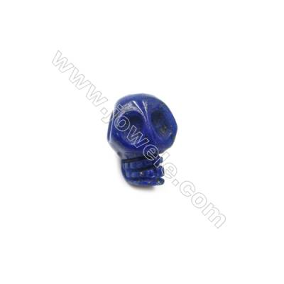 Lapis Lazuli Single Beads  Skull  Size 9x12mm  Hole 1.5mm  10pcs/pack