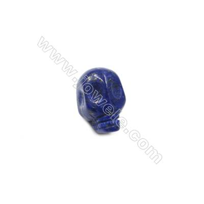 Lapis Lazuli Single Beads  Skull  Size 6x10mm  Hole 1.5mm  10pcs/pack