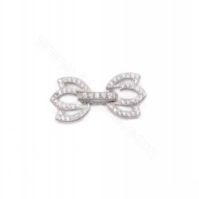 3 strands platinum plated 925 sterling silver crown connector clasp for necklace jewelry making 22x12mm x 1pc
