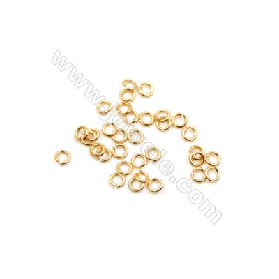 Brass Plated Gold Open Jump Ring  Round Diameter 3mm  Wire 0.6mm  1 000pcs/pack
