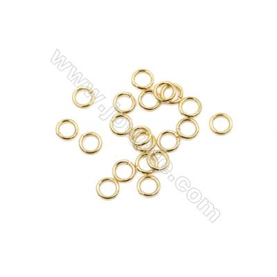 Brass Plated Gold Open Jump Ring  Round  Diameter 5mm  Wire 0.8mm  800pcs/pack
